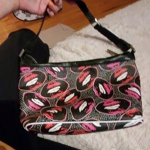EUC Gwen Stefani L.A.M.B. lips design purse